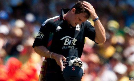 Bbc sport cricket strauss slams england batsmen after for Farcical run out