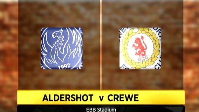 Aldershot 3-2 Crewe