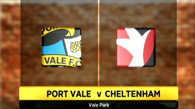 Port Vale v Cheltenham