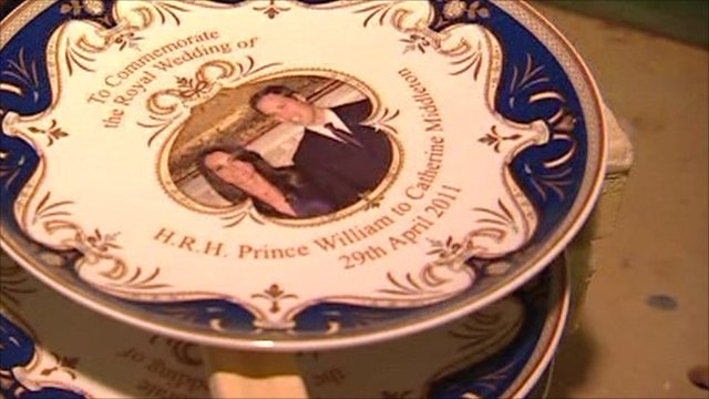 Plate commemorating the couple's wedding