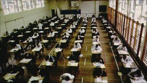 Pupils sitting examinations
