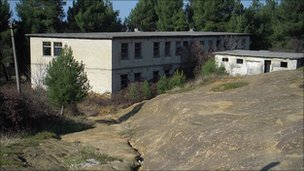 Building which housed Kosovan Albanian refugees during the war, Fushe-Kruje