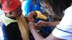 A pneumonia vaccine being administered