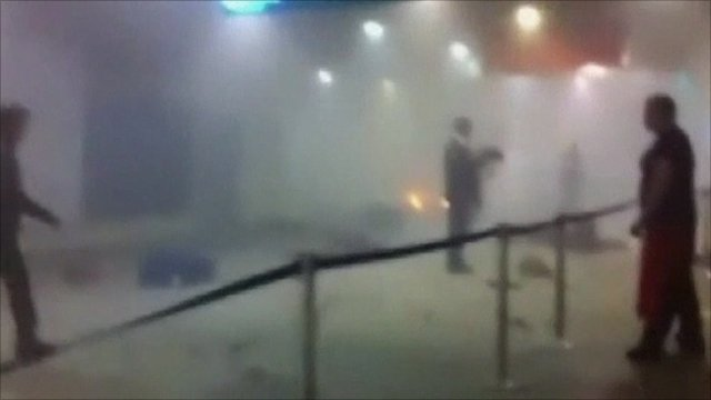 people running away from tornado. Moscow blast witness: People