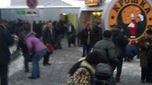 Scene at Domodedovo airport. 24 Jan 2011