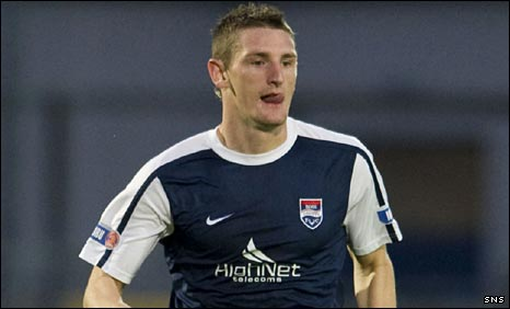 Ross County midfielder Martin Scott