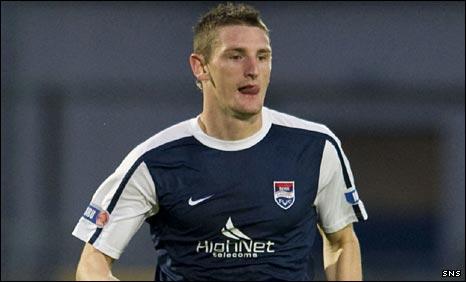Ross County midfielder Martin Scott