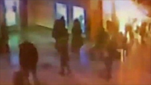 CCTV footage of Moscow airport bomb