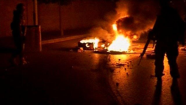 Roadblock in Lebanon