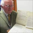 Peter Wescombe with the D-Day document