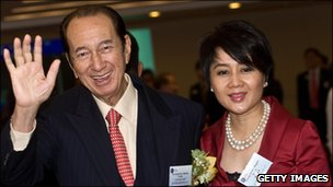 Stanley Ho and Angela Leong