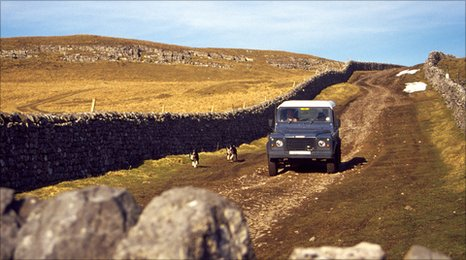 Farm landrover in Wharfedale