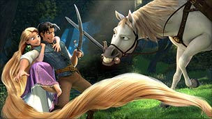 A scene from Tangled