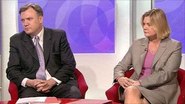 Ed Balls and Justine Greening