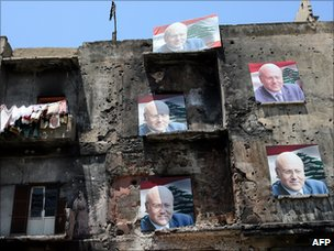 Posters of Najib Mikati in Tripoli (May 2009)