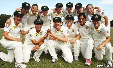 Australia's women celebrate their Ashes victory