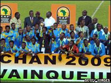 DR Congo team celbrating