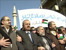 Muslim Brotherhood protesters in Jordan