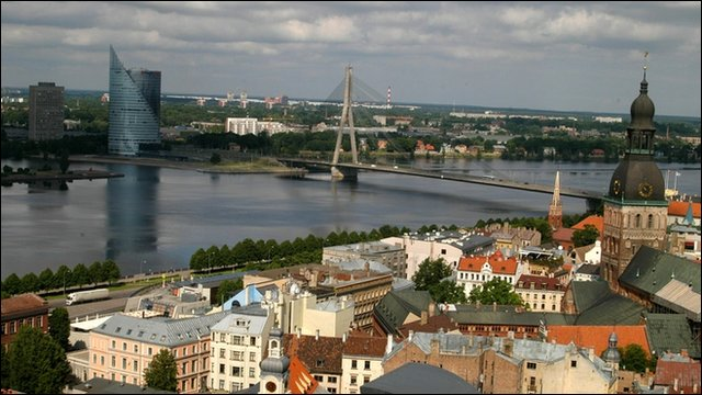 Riga city skyline