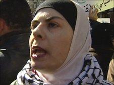 Female protester in Jordan