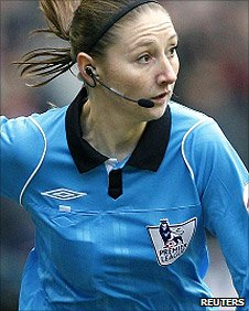 Female official Sian Massey