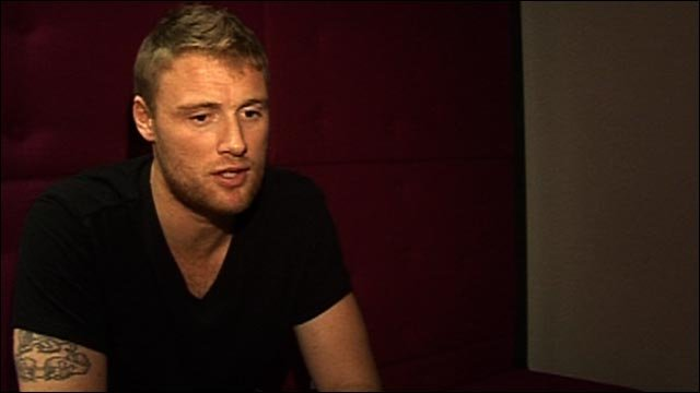 England cricket legend Andrew Flintoff