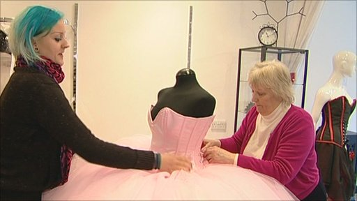Dressmakers Norma and Emma Green