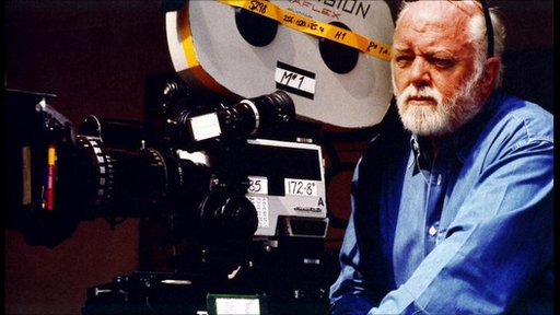 Lord Attenborough with a film camera