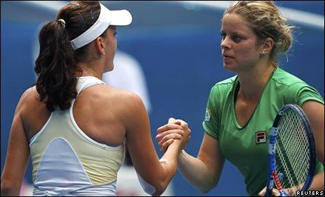 Agnieszka Radwanska and Kim Clijsters
