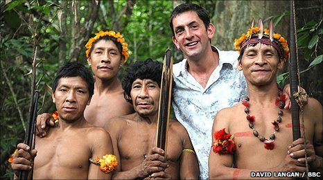 Justin Rowlatt with some of the inhabitants of Jurity