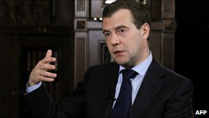 Russian President Dmitry Medvedev (26 Jan 2011)