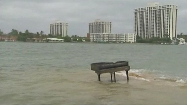 Grand piano in Biscayne Bay