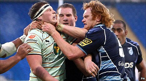 Northampton hooker Dylan Hartley