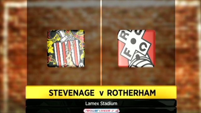 Graphic of Stevenage 3-0 Rotherham