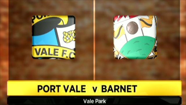 Graphic of Port Vale 0-0 Barnet
