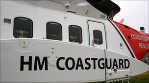 Coastguard helicopter (Pic: MCA)