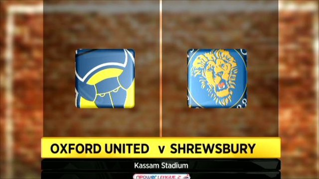 Graphic of Oxford United v Shrewsbury