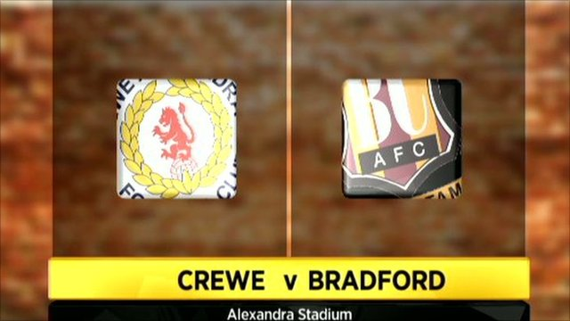 Graphic of Crewe 2-1 Bradford