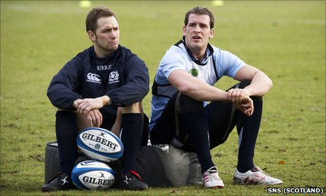Scotland pair Dan Parks (left) and Rory Lamont