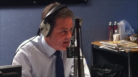 Richard Keys during his interview on talkSPORT