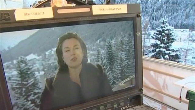 Tanya Beckett on TV screen