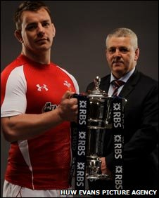 Matthew Rees and Warren Gatland