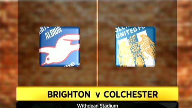 Graphic of Brighton v Colchester