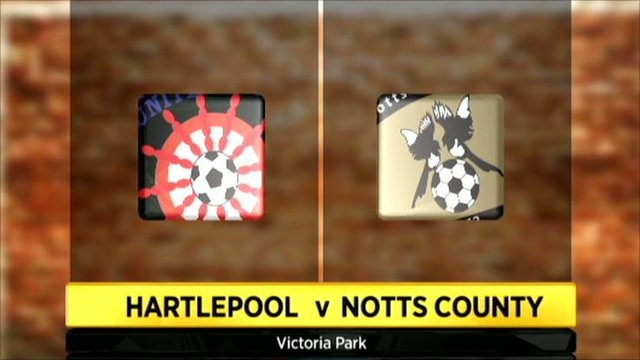 Graphic of Hartlepool 1-1 Notts County