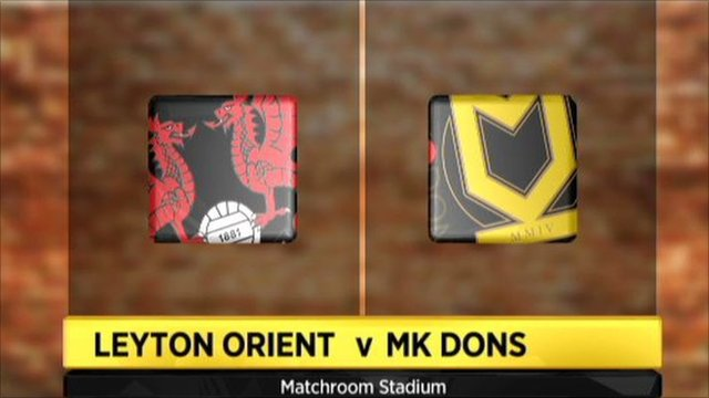 Graphic of Leyton Orient 2-2 MK Dons