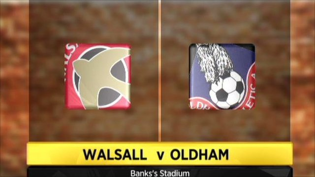 Graphic of Walsall 1-1 Oldham