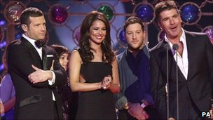 Dermot O'Leary, Cheryl Cole, Matt Cardle and Simon Cowell