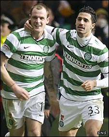 Anthony Stokes celebrates with Beram Kayal