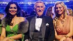 Bruce Forsyth, his wife Wilnelia and Tess Daly
