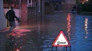 Flooded York street